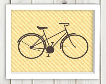 Bicycle printable art, wall art, immediate delivery, Art Print Bicycle