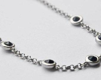 Bijoux Terner black and silver necklace