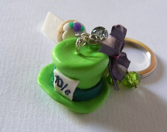 Kaychain Mad Hatter ~ Alice in Wonderland handmade