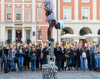 "Photo ""Suspense"" Street Performer outside Convent Garden Market is London"
