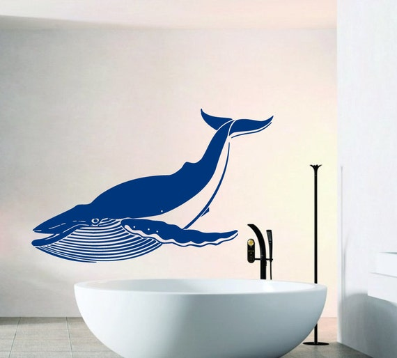 Bathroom Sea Wall Decor : Free shipping wall decals big whale decal sea by