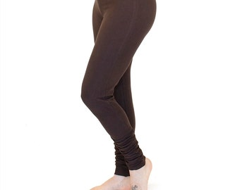 Womens Yoga Clothing, Ruched Leggings - SIMPLE LEGGINGS - festival and dance clothes