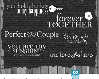 Love Quotes For Him Scrapbook : Photography Love Words - Photoshop Overlay - Digital Scrapbook Word ...