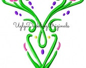 Frozen Anna Bodice Machine Embroidery Design Digital Download