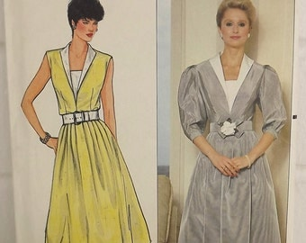 Vintage Sewing Pattern, Misses Semi-Fitted DRESS and BELT, Womens SIZE 16 - Designed by Richard Warren -