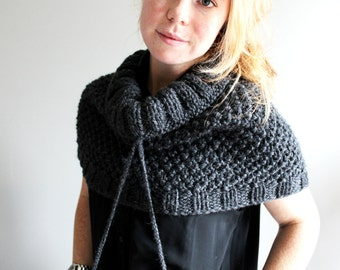 hutcheson capelet in CHARCOAL GREY (wool blend - made to order)