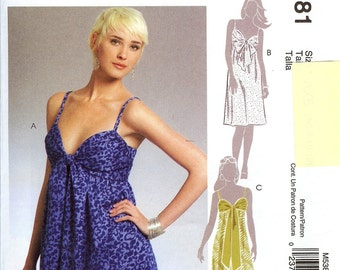 McCall's UNCUT Pattern M5381 - Misses Dress in Three Lengths - 4-12