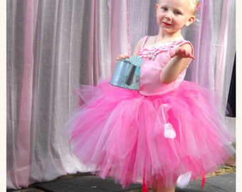 Pinkalicious - Shades of Pink Tulle Skirt - Sewn Pink Tutu - Made to Order - flower girls, parties, valentines - Knee length, long tutu