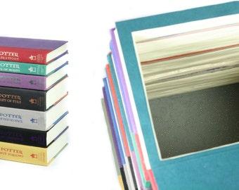 Harry Potter 7 Book Stack Wedding Card Box Booksafe Handmade All Seven Book Theme Wedding Hollow Book Card Box - CUSTOM ORDER