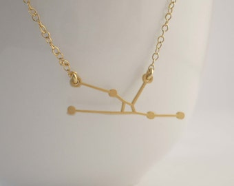 Taurus Constellation Necklace, Zodiac Constellation, Constellation Necklace, Taurus Charm, Astrology, Stars
