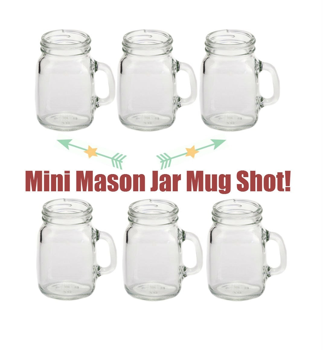 6 4oz mini mason jar mug shot glasses set of 6. Black Bedroom Furniture Sets. Home Design Ideas