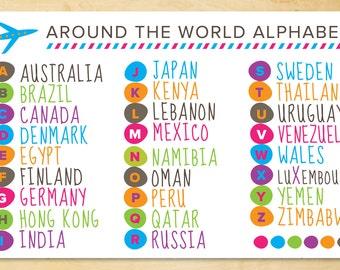 Kids Around the World Alphabet 2-Sided Placemat