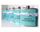 Something Blue Bridesmaids Gifts, Maid of Honor Gift, Bridesmaids Flask, Custom Personalized Favors, Bachelorette Party, Bridal Shower