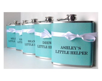 Something Blue Bridesmaids Gifts Maid of Honor Gift Bridesmaids Flask Personalized Wedding Favors Bachelorette Party Bridal Shower