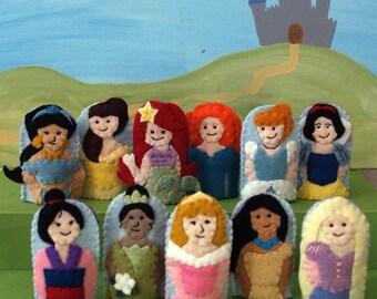 Princess Finger Puppet Set- Choose 4