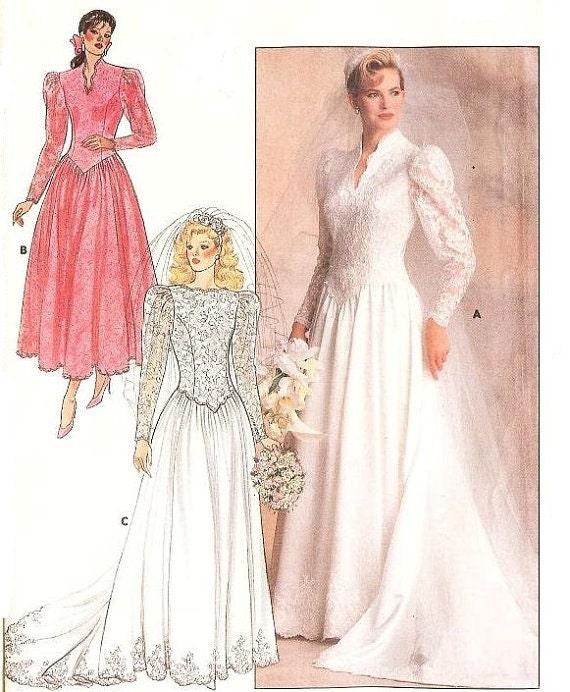 80s wedding dress pattern butterick patterns 4646 by for Butterick wedding dress patterns