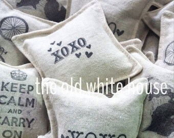 3 reusable organic lavender dryer sachets, aromatherapy, eco friendly