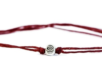 Evil Eye Bracelet, Red String Bracelet, Sterling Silver, Thread Bracelet, Adjustable Bracelet