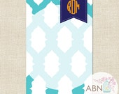 Personalized Notepad with Monogram - IKAT Collection