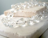 Clear Quartz necklace, Ice necklace, Faceted Quartz Crystal necklace, See Through, Clear, Ice