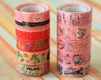 Cartoon & Eiffel mini deco tape set 01