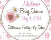 SALE - 40 Custom Lip Balm Wedding Favors - Bridal Shower Favors - Personalized Lip Balm - Baby Shower Favors
