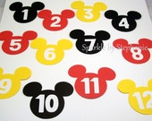 Mickey Mouse Picture Banner Heads - Newborn - 12 months - you choose the color(s) - 2.5""