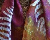 Silk Scarf Batik Ferns Design