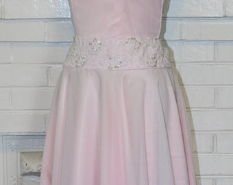 RESERVED- Dirty Baby's Dancing Dress- Light Pink Chiffon-Custom Made To Order- Any Size