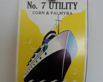 Steamship Labels - Hamburg Broom Works - Hamburg, PA. Corn & Palmyra