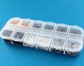 4mm Jump Rings with Six Assorted Finishes in Handy Storage Box -JBox-4