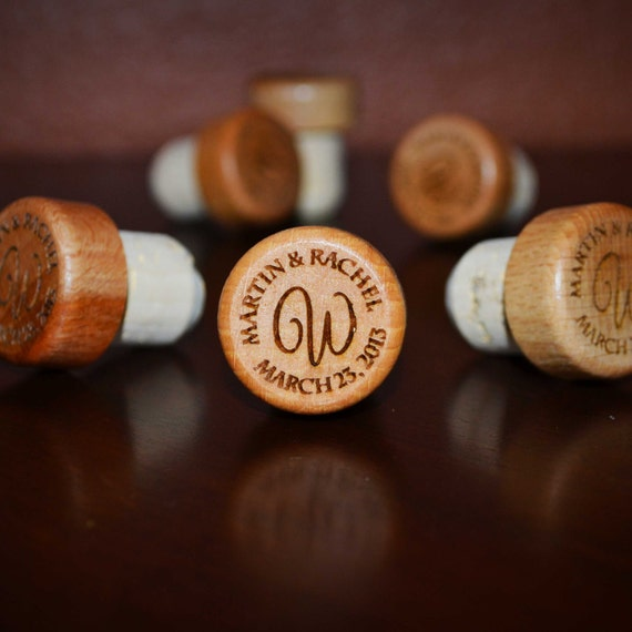 Wedding wine stopper gift personalized wedding favors engraved wine