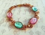 Opal Bracelet Vintage Glass NBW