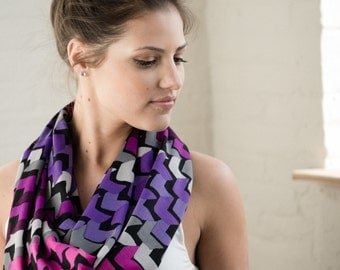 Infinity Scarf Purple Arrows