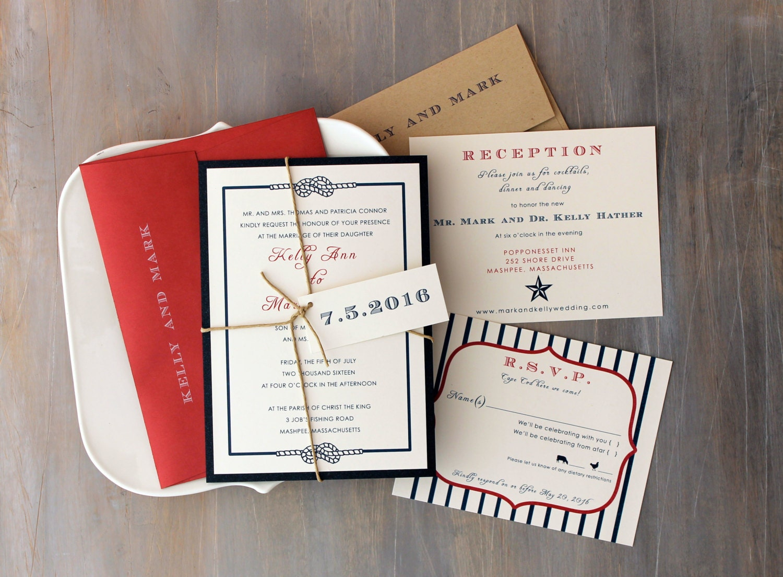 Country Wedding Invitations: Country Wedding Patriotic Invitations Summer Wedding