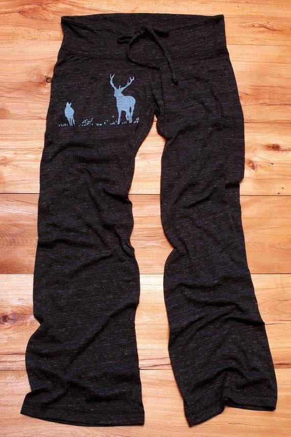 just grazing Deer Pants, Yoga Pants, Camping, Pajama Pants, S,M,L,XL