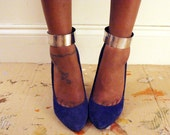 Solid Silver-Tone Ankle Cuffs