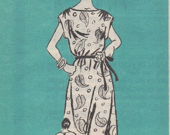 Bust 38-40-42-44-FACTORY FOLDED 1970's Misses' Dress Mail Order Pattern 4999 Szs 34-36-38-40