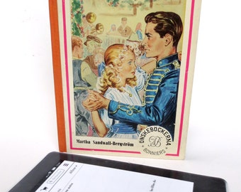 Romantic Kindle Case with Couple Dancing, Made from Swedish Book [*Kindle Basic, Paperwhite,  Voyage, *Nook Simple Touch]