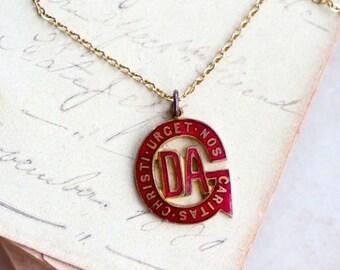 DA Medallion Necklace - Caritas Christi Urget Nos - The Love of Christ Urges us On Necklace