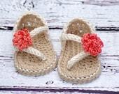 Crochet Baby Pattern Sandals - Carefree Sandals number 219 Instant Download K
