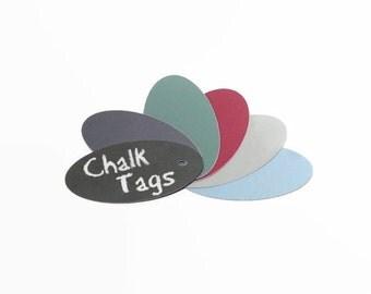 Chalk Tags - Chalkboard Tags - Wedding Favor Tags - Hang Tags