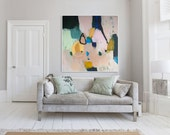 """PRINT of ABSTRACT PAINTING large modern giclee print of painting """"Out of Her Loop 4"""""""