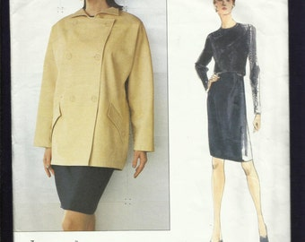 Vogue 2189 Designer Geoffrey Beene Easy Fitting Double Breasted Jacket & Pencil Skirt Sizes 14..16..18 UNCUT