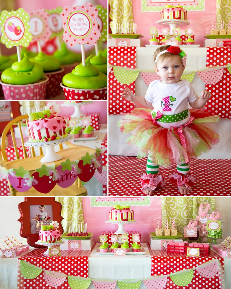 Strawberry Birthday Party Strawberry Party Summer Birthday