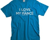 Fiance Shirt Golf Tshirt I Love My Fiance Fiance Gift for Golfer Engagement Fiance T-shirt