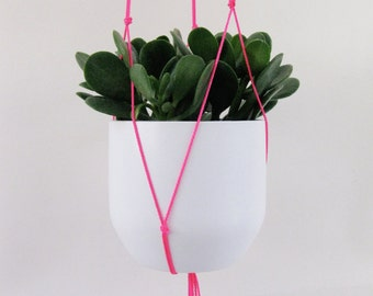Neon Pink Hanging Plant Holder