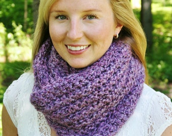 Crochet INFINITY SCARF PATTERN Instant Download Pdf