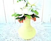 Vintage Fenton Burmese Vase - Ruffled Edge Pink Peach Yellow Vase
