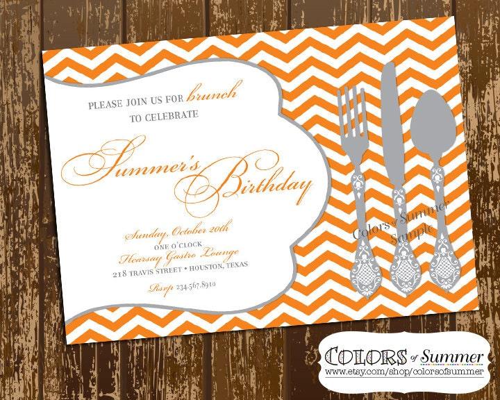 birthday brunch invitation luncheon invitation dinner, Birthday invitations